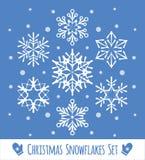 Συλλογή δαντελλωτός άσπρα snowflakes στοκ φωτογραφία με δικαίωμα ελεύθερης χρήσης