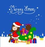 Συλλογή, διάνυσμα και απεικονίσεις στοιχείων Χριστουγέννων Στοκ εικόνα με δικαίωμα ελεύθερης χρήσης
