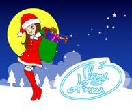 Συλλογή, διάνυσμα και απεικονίσεις στοιχείων Χριστουγέννων Στοκ εικόνες με δικαίωμα ελεύθερης χρήσης