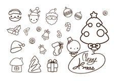 Συλλογή, διάνυσμα και απεικονίσεις στοιχείων Χριστουγέννων Στοκ φωτογραφίες με δικαίωμα ελεύθερης χρήσης