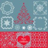 Συλλογή διακοσμήσεων Χριστουγέννων Στοκ εικόνες με δικαίωμα ελεύθερης χρήσης