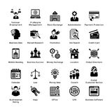Συλλογή εικονιδίων επιχειρήσεων και χρηματοδότησης διανυσματική απεικόνιση