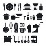 Συλλογή εικονιδίων εργαλείων κουζινών Στοκ Φωτογραφία