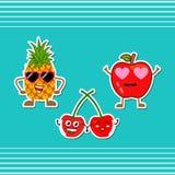 Συλλογή εικονιδίων φρούτων ελεύθερη απεικόνιση δικαιώματος