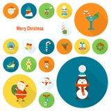 Συλλογή εικονιδίων Χριστουγέννων και χειμώνα Στοκ φωτογραφίες με δικαίωμα ελεύθερης χρήσης