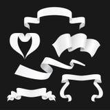 Συλλογή ετικετών μορφών εμβλημάτων κορδελλών επίσης corel σύρετε το διάνυσμα απεικόνισης Στοκ Φωτογραφία