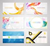 Συλλογή καρτών επιχειρησιακής επίσκεψης Στοκ εικόνα με δικαίωμα ελεύθερης χρήσης