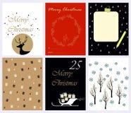 Συλλογή καρτών Χριστουγέννων διανυσματική απεικόνιση