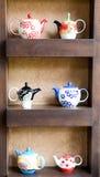 Συλλογή κεραμικό teapot Στοκ Εικόνες