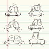 Συλλογή κινούμενων σχεδίων αυτοκινήτων ελεύθερη απεικόνιση δικαιώματος