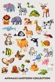 Συλλογή κινούμενων σχεδίων ζώων για τα παιδιά Στοκ φωτογραφία με δικαίωμα ελεύθερης χρήσης
