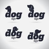 Συλλογή λογότυπων σκυλιών λογότυπων _ font σύμβολο απεικόνιση αποθεμάτων
