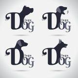 Συλλογή λογότυπων σκυλιών λογότυπων _ font Freeform σύμβολο Abstra διανυσματική απεικόνιση