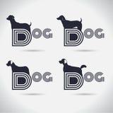 Συλλογή λογότυπων σκυλιών λογότυπων _ font Freeform σύμβολο Abstra απεικόνιση αποθεμάτων