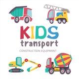 Συλλογή μεταφορών παιδιών διανυσματική απεικόνιση