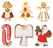 Συλλογή μπισκότων Χριστουγέννων Στοκ φωτογραφία με δικαίωμα ελεύθερης χρήσης