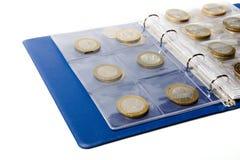 συλλογή νομισμάτων λευκωμάτων Στοκ Φωτογραφία