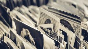 Συλλογή παλαιών γραπτών και φωτογραφίες και των καρτών σεπιών Στοκ φωτογραφίες με δικαίωμα ελεύθερης χρήσης