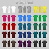 Συλλογή προτύπων μπλουζών των διαφορετικών χρωμάτων ελεύθερη απεικόνιση δικαιώματος