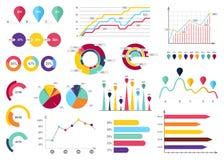 Συλλογή στοιχείων Infographic - επιχειρησιακή διανυσματική απεικόνιση στο επίπεδο ύφος σχεδίου για την παρουσίαση, βιβλιάριο, ιστ διανυσματική απεικόνιση