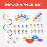 Συλλογή στοιχείων Infographic σκιών - επιχειρησιακή διανυσματική απεικόνιση στο επίπεδο ύφος σχεδίου για την παρουσίαση, βιβλιάρι απεικόνιση αποθεμάτων
