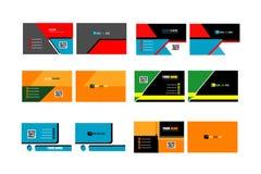 Συλλογή της επαγγελματικής κάρτας colorfull Στοκ Εικόνα