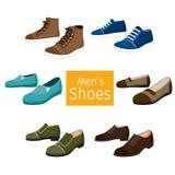 Συλλογή του διαφορετικού ζευγαριού παπουτσιών ατόμων ` s Στοκ εικόνες με δικαίωμα ελεύθερης χρήσης