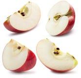 Συλλογή του κόκκινου μήλου που απομονώνεται σε ένα άσπρο υπόβαθρο Στοκ φωτογραφία με δικαίωμα ελεύθερης χρήσης