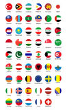 Συλλογή του σχεδίου κουμπιών σημαιών ελεύθερη απεικόνιση δικαιώματος