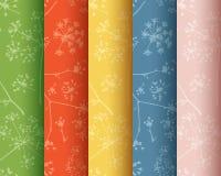 Συλλογή των άνευ ραφής σχεδίων στις ομπρέλες άνηθου στοκ φωτογραφία με δικαίωμα ελεύθερης χρήσης