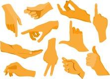 Συλλογή των ανθρώπινων χεριών Στοκ Εικόνα