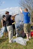 συλλογή των απορριμάτων Στοκ εικόνες με δικαίωμα ελεύθερης χρήσης