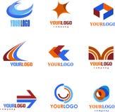 Συλλογή των αφηρημένων λογότυπων Στοκ εικόνα με δικαίωμα ελεύθερης χρήσης