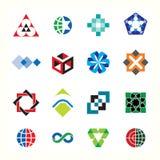 Συλλογή των γραφικών εικονιδίων συμβόλων λογότυπων απεικόνιση αποθεμάτων