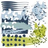 Συλλογή των δημιουργικών συρμένων χέρι στοιχείων διανυσματική απεικόνιση