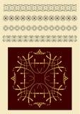 Συλλογή των διακοσμητικών γραμμών κανόνα στις διαφορετικές μορφές σχεδίου διανυσματική απεικόνιση