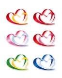 Συλλογή των διπλών καρδιών Στοκ εικόνα με δικαίωμα ελεύθερης χρήσης