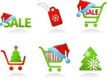 Συλλογή των εικονιδίων αγορών Χριστουγέννων! Στοκ φωτογραφία με δικαίωμα ελεύθερης χρήσης