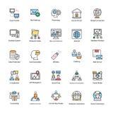 Συλλογή των εικονιδίων δικτύων και επικοινωνίας Στοκ εικόνες με δικαίωμα ελεύθερης χρήσης