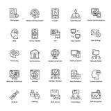 Συλλογή των εικονιδίων δικτύων και επικοινωνίας Στοκ Εικόνα