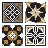 Συλλογή των εκλεκτής ποιότητας διακοσμητικών σχεδίων διανυσματική απεικόνιση