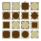 Συλλογή των εκλεκτής ποιότητας τετραγωνικών διακοσμητικών πλαισίων συνόρων ελεύθερη απεικόνιση δικαιώματος