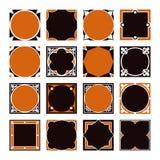 Συλλογή των εκλεκτής ποιότητας τετραγωνικών διακοσμητικών πλαισίων συνόρων Στοκ φωτογραφία με δικαίωμα ελεύθερης χρήσης
