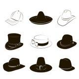 Συλλογή των καπέλων Στοκ φωτογραφία με δικαίωμα ελεύθερης χρήσης