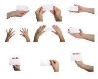 Συλλογή των κενών καρτών Στοκ Εικόνα