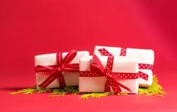Συλλογή των κιβωτίων χριστουγεννιάτικου δώρου Στοκ εικόνες με δικαίωμα ελεύθερης χρήσης