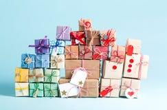 Συλλογή των κιβωτίων χριστουγεννιάτικου δώρου Στοκ φωτογραφία με δικαίωμα ελεύθερης χρήσης