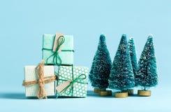 Συλλογή των κιβωτίων χριστουγεννιάτικου δώρου Στοκ εικόνα με δικαίωμα ελεύθερης χρήσης
