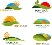 Συλλογή των λογότυπων και των εικονιδίων φύσης Στοκ Εικόνες