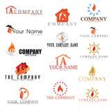 Συλλογή των λογότυπων πυρκαγιάς Στοκ εικόνα με δικαίωμα ελεύθερης χρήσης